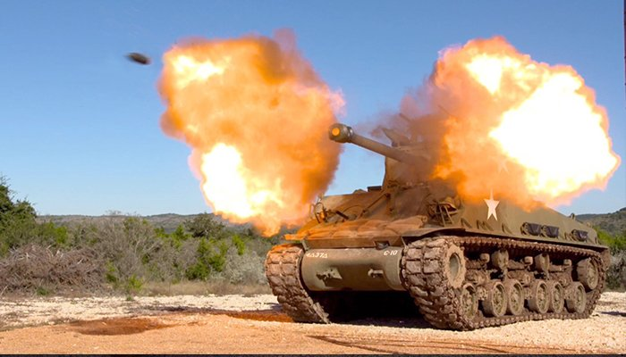Sherman Gun Fire