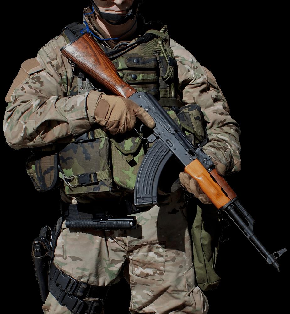 Soldier AK47